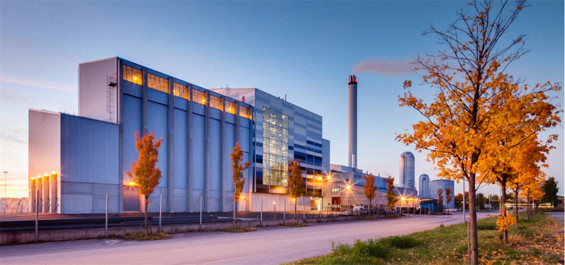 Miljöbild på Lidköping Energi´s byggnader.