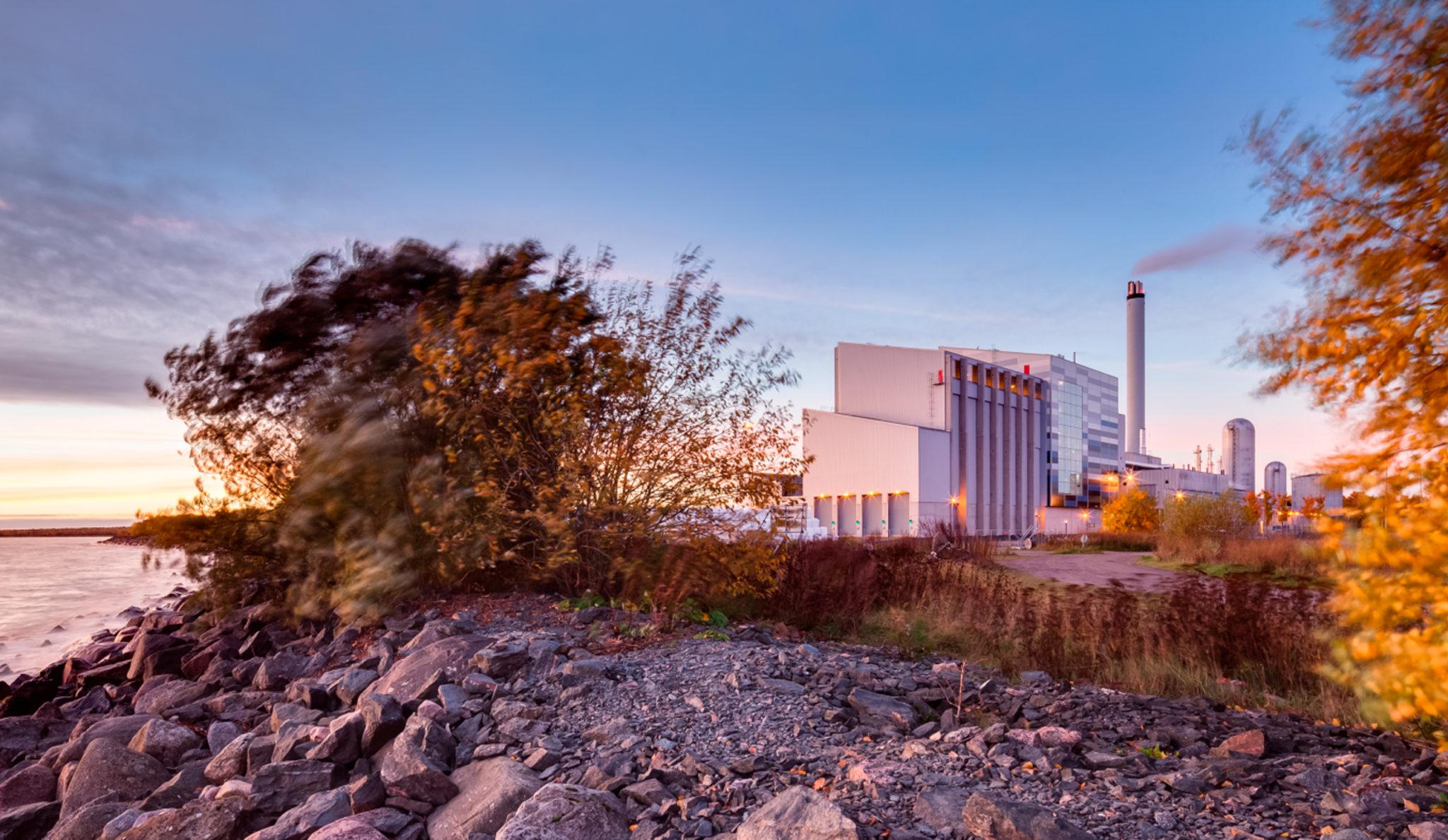 Landskapsbild på Lidköping Energi´s byggnader.